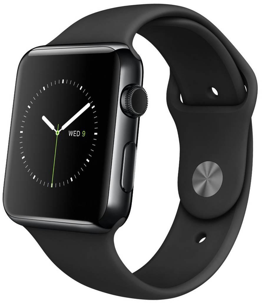 Apple watch series 3 gps nike+, 38мм, корпус из алюминия цвета «серый космос», спортивный ремешок цвета «антрацитовый/чёрный» (mqky2).