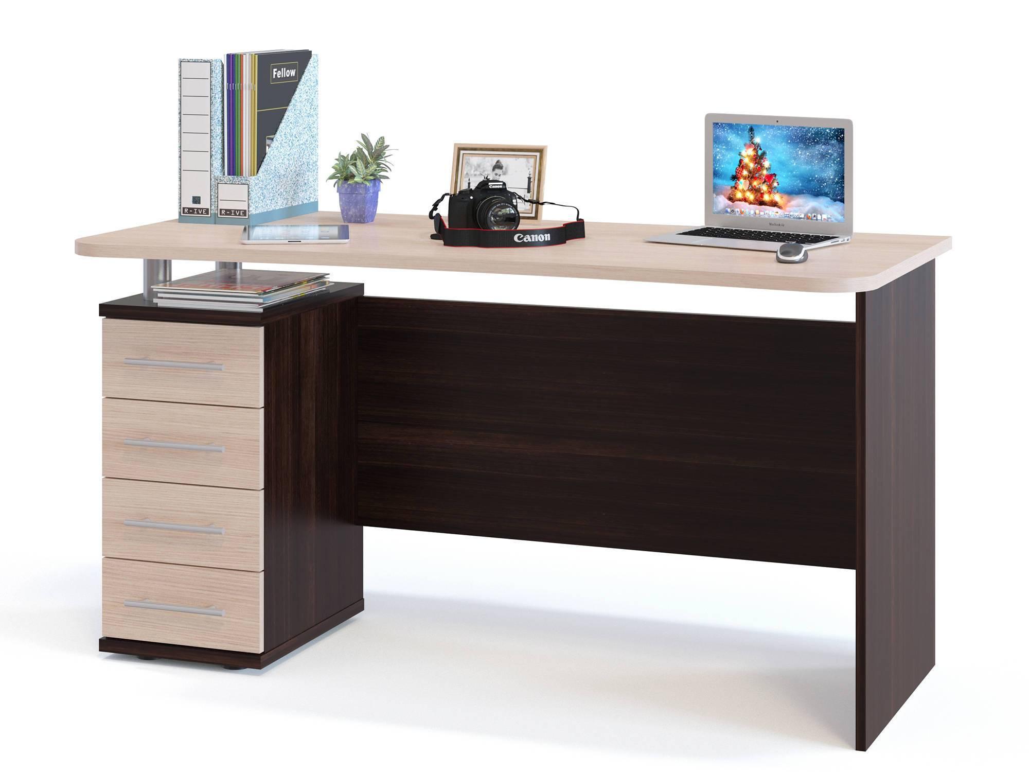 """Компьютерный стол """"кст-105"""" дуб сонома/белый купить в интерн."""